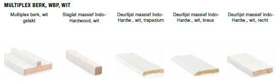kozijn multiplex berk, wbp, witte grondlaag
