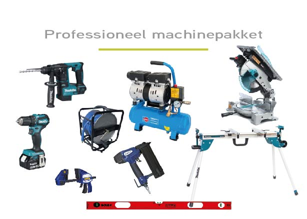 professioneel machinepakket te huur bij aankoop van minimum 1 plaatsklare schilderdeur
